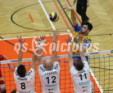 Volleyball. MEVZA. Final Four. Finale. SK Posojilnica Aich/Dob gegen Calcit Volley Kamnik. Lukasz Wiese (Aich/Dob). Bleiburg, am 10.3.2018. Foto: Kuess --- pressefotos, pressefotografie, kuess, qs, qspictures, sport, bild, bilder, bilddatenbank