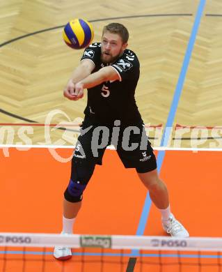 Volleyball. DenizBank AG Volley League Men. SK Posojilnica Aich/Dob gegen SG Union Raiffeisen Waldviertel.  Lars Bornemann (Waldviertel). Bleiburg, am 29.9.2018. Foto: Kuess --- pressefotos, pressefotografie, kuess, qs, qspictures, sport, bild, bilder, bilddatenbank